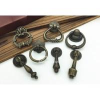 2 Inch Cabinet Pulls Antique Bronze Carved Zinc Alloy Bedroom