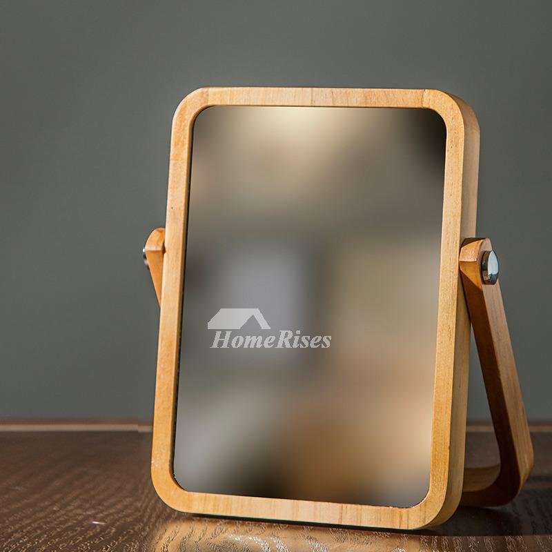 Ceiling Wallpaper 3d Folding Makeup Mirror Free Standing Natural Wood Rectangular