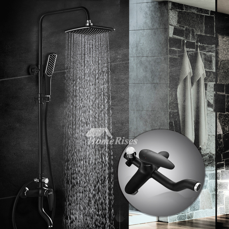 black shower faucet commercial painting single handle wall mount