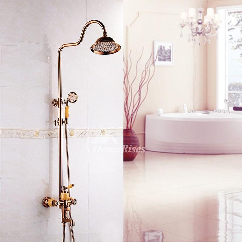 designer rose gold single handle shower faucet smooth best vintage