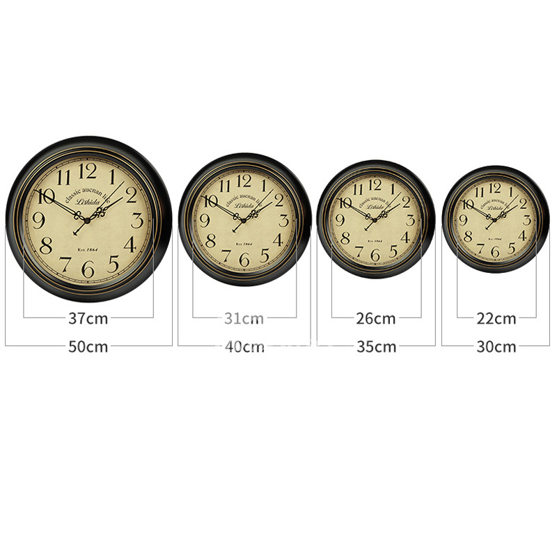 kitchen wall clocks cabinets to go round hanging 14 16 inch metal silent outdoor