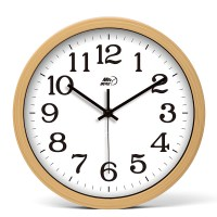 Round Wall Clock 10 Inch Wood Hanging Rustic Bedroom Cheap ...