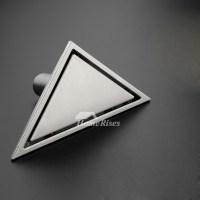 Modern Stainless Steel Triangle Corner Hidden Shower Drain