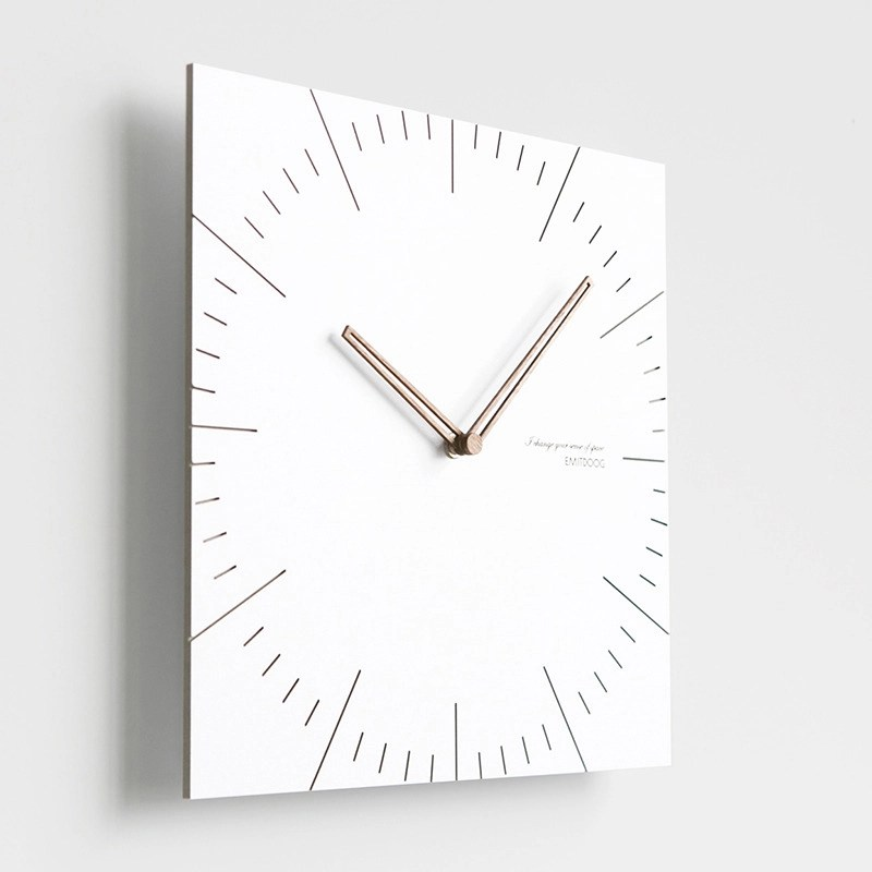 wooden kitchen clock knives made in germany simple square white modern wall clocks battery operated hois46558 6 jpg