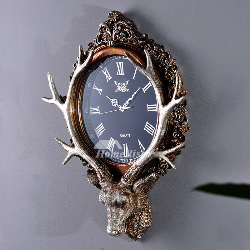 Antique Wall Clocks Antler Hanging Resin Antler Deco Art
