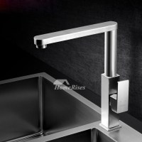 Contemporary Kitchen Faucets Brushed Nickel Silver ...