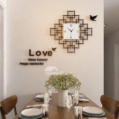 Hanging Kitchen Light Fixtures Outdoor Kitchens Pictures Living Room Wall Clocks Acrylic Silent Decorative ...