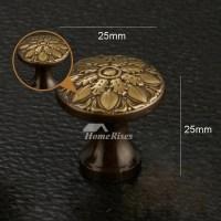 Cheap Door Knobs Carved Antique Brass/Bronze Gold Decorative