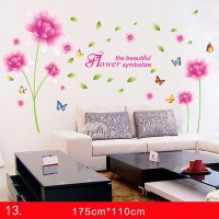Adhesive Wall Stickers PVC Flower/Dandelion For Bedroom ...