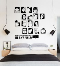 Cool Wall Stickers Black PVC Design Self Adhesive Living ...