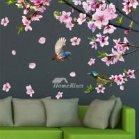 Decorative Flower Wall Stickers Bird Self Adhesive Bedroom ...