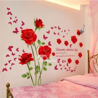Adhesive Wall Stickers Flower/Letter Decorative Bedroom ...