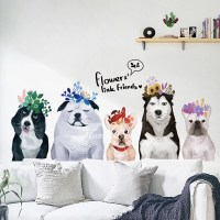 Dog Wall Stickers PVC Self Adhesive Home Decor Living Room ...