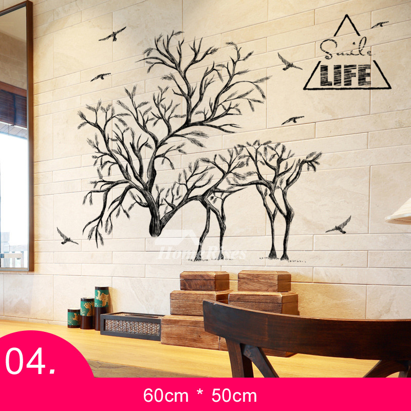 Wall Stickers For Living Room AnimalTreeLetter Patterned