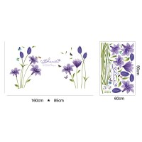 Flower Wall Stickers Butterfly/Letter/Plant For Bedroom ...