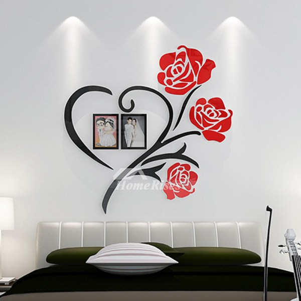 3d Wall Stickers Flower Acrylic Modern Beautiful Living Room