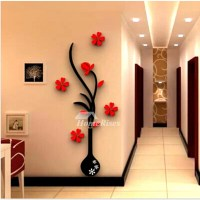 Large Wall Stickers Flower Self Adhesive Acrylic 3D Living ...