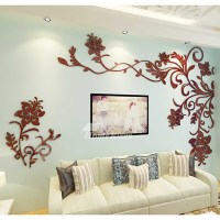 Beautiful Wall Mural Stickers 3D Acrylic Home Decor Living