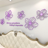 Flower Wall Decals Purple/Yellow/White/Blue/Pink Acrylic ...