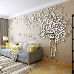 Wall Stickers Living Room Roman Blinds Ideas Decals For Tree Acrylic Home Personalised Mirror