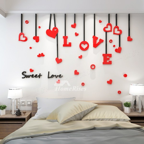 Love Wall Decals Acrylic 3d Living Room Adults