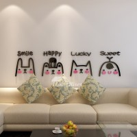 Vinyl Wall Art Decals Letter Animal Acrylic For Kids ...