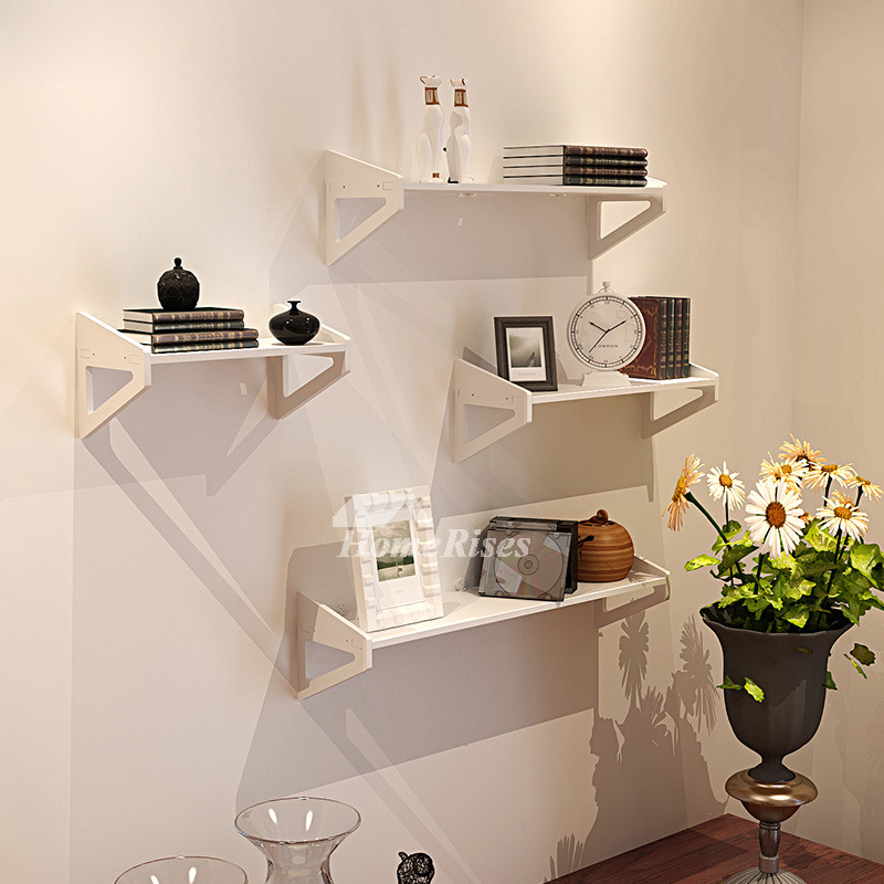 3d Shelf Wallpaper White Wall Mounted Shelves Pvc Ledges Decorative Unique