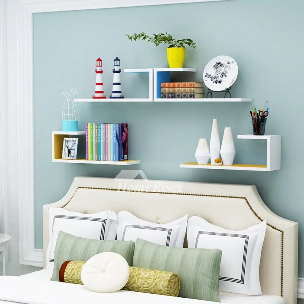 White Bedroom Wall Shelves