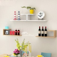 Wall Mounted Book Shelves Contemporary Design Hanging Wooden
