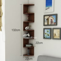 Corner Wall Shelf Wooden Decorative Creative Living Room ...