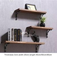 Contemporary Wall Shelves Wooden Ledges Decorative Rustic ...