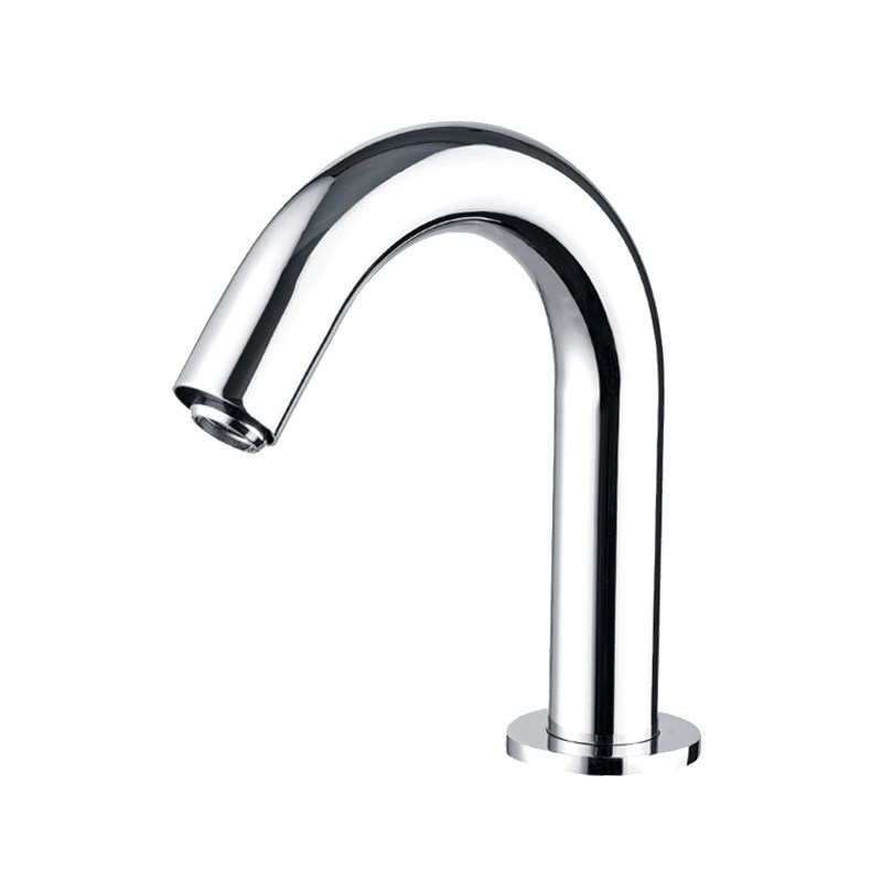 touchless bathroom faucet battery operated silver brass chrome