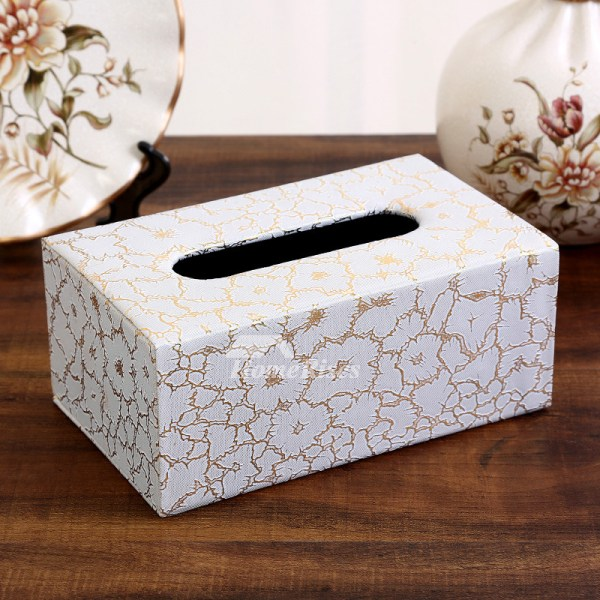 Rectangular Tissue Box Cover Leather Modern Crafts Car