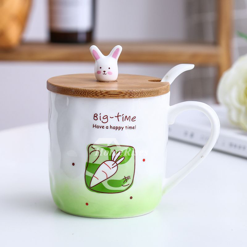 Funny Coffee Mugs Ceramic Bamboo Cute Unique Design