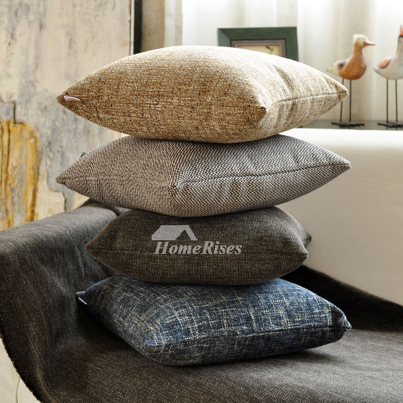 Decorative Pillows For Bed Square Linen Couch Cheap On