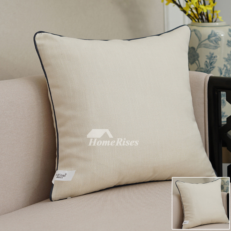 Modern Grey Decorative Pillows Square Linen For Couch