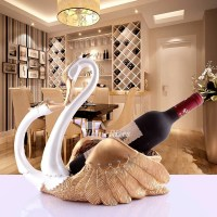 Unique Wine Bottle Holders Decorative Swan Shaped Resin ...