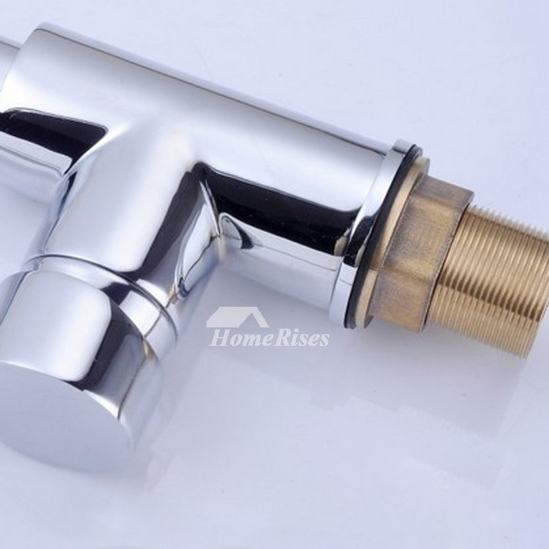 Unique Kitchen Faucets Pull Out Spray 2 Handle Silver