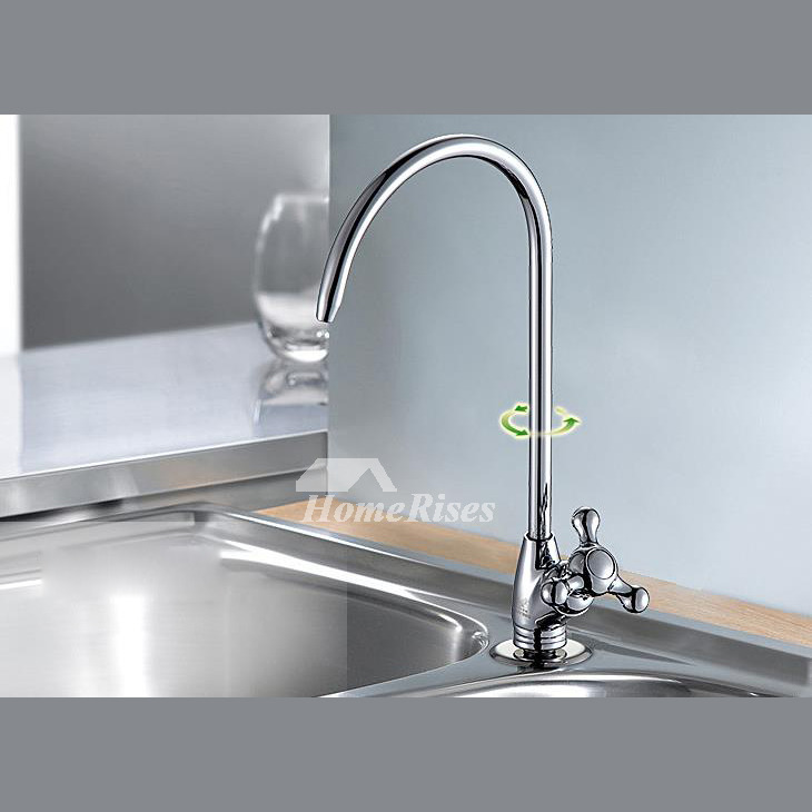 Unique Kitchen Faucets Gooseneck Cheap Brass Chrome One Handle