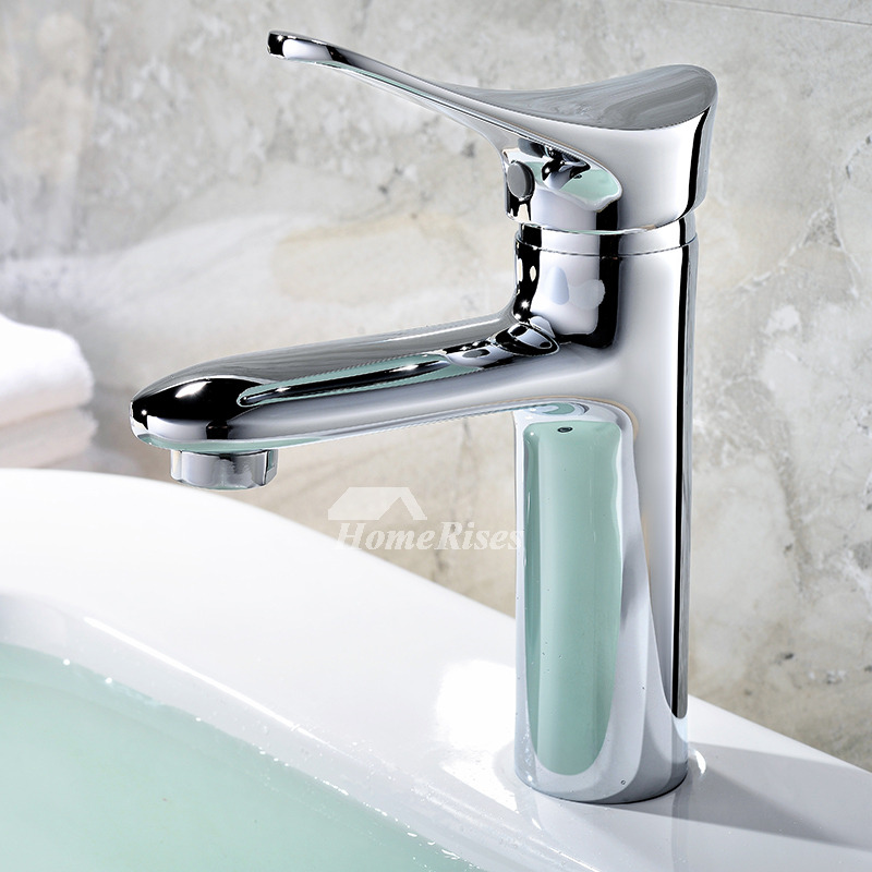 modern bathroom sink faucets vessel brass single hole chrome water