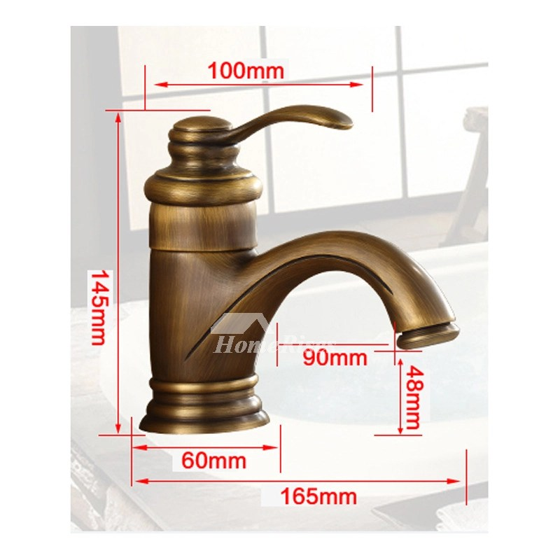 Brushed Gold Bathroom Faucet Single Hole Gold Cheap Small