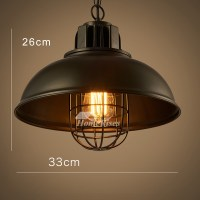 Pendant Light Fixtures Industrial Warehouse Wrought Iron ...