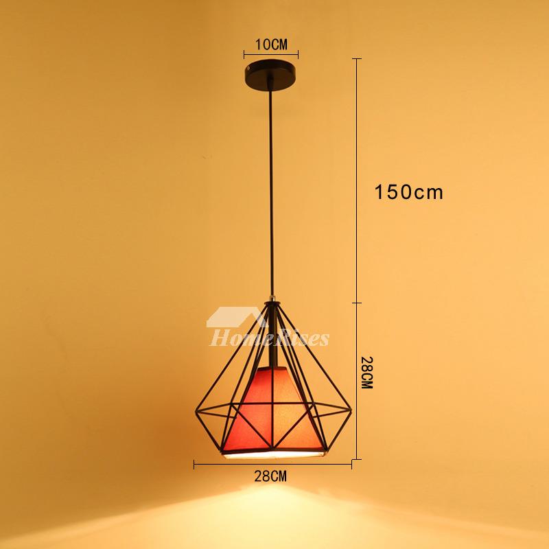 Black Pendant Light Kitchen Fixture Modern Hanging Large