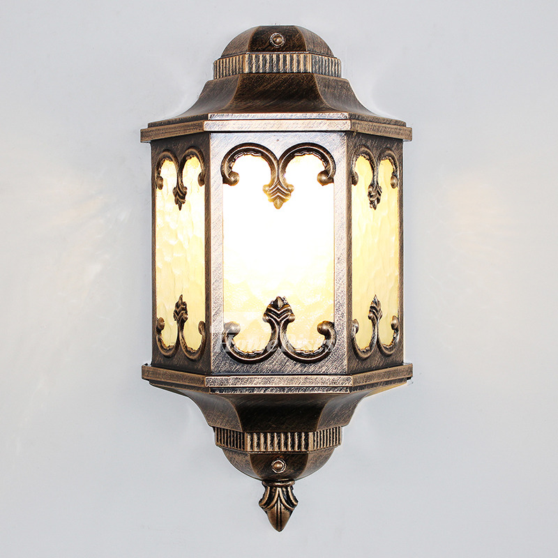 antique wall sconces glass wrought iron decorative e27 lighting outdoor