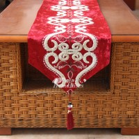Dining Room Table Runners Black/Purple/Red/Beige ...