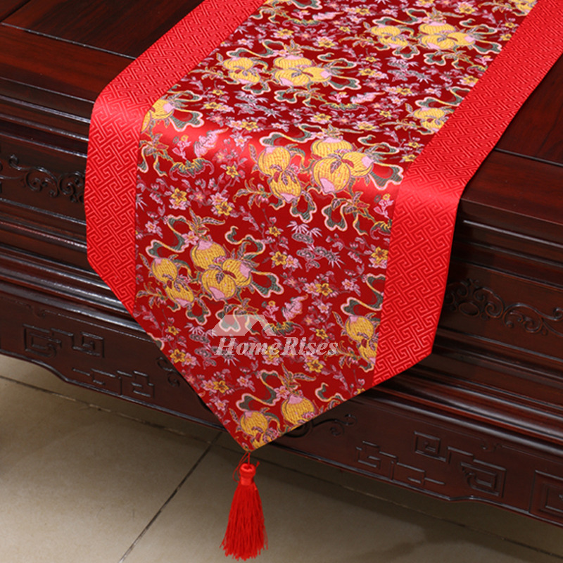 Fall Ceiling Wallpaper Red Table Runner Brown Wholesale Dinning Room Wedding Fall