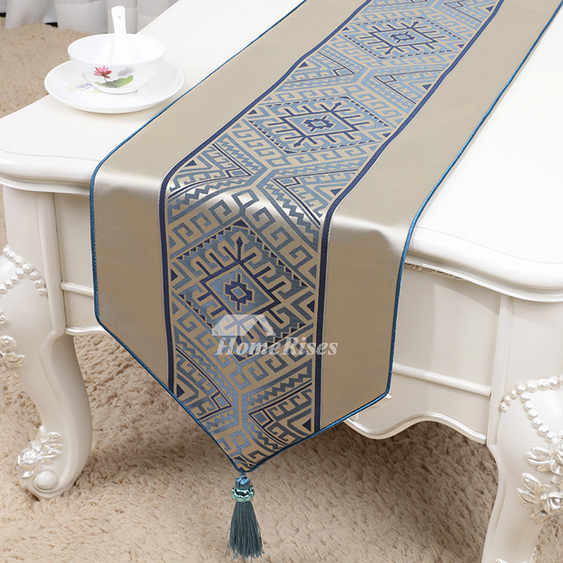 designer brown blue table