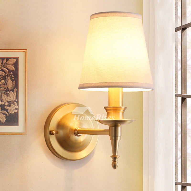 Art Deco Brass Wall Sconce Brushed Antler Decorative Gold