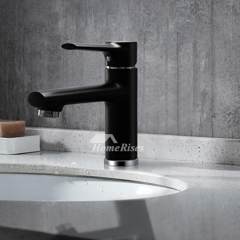 Matte Black Bathroom Faucet Single Handle OilRubbed
