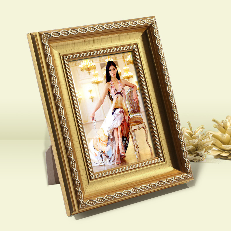 Gold Picture Frames Carved 5X74X66X8 Luxury Plastic